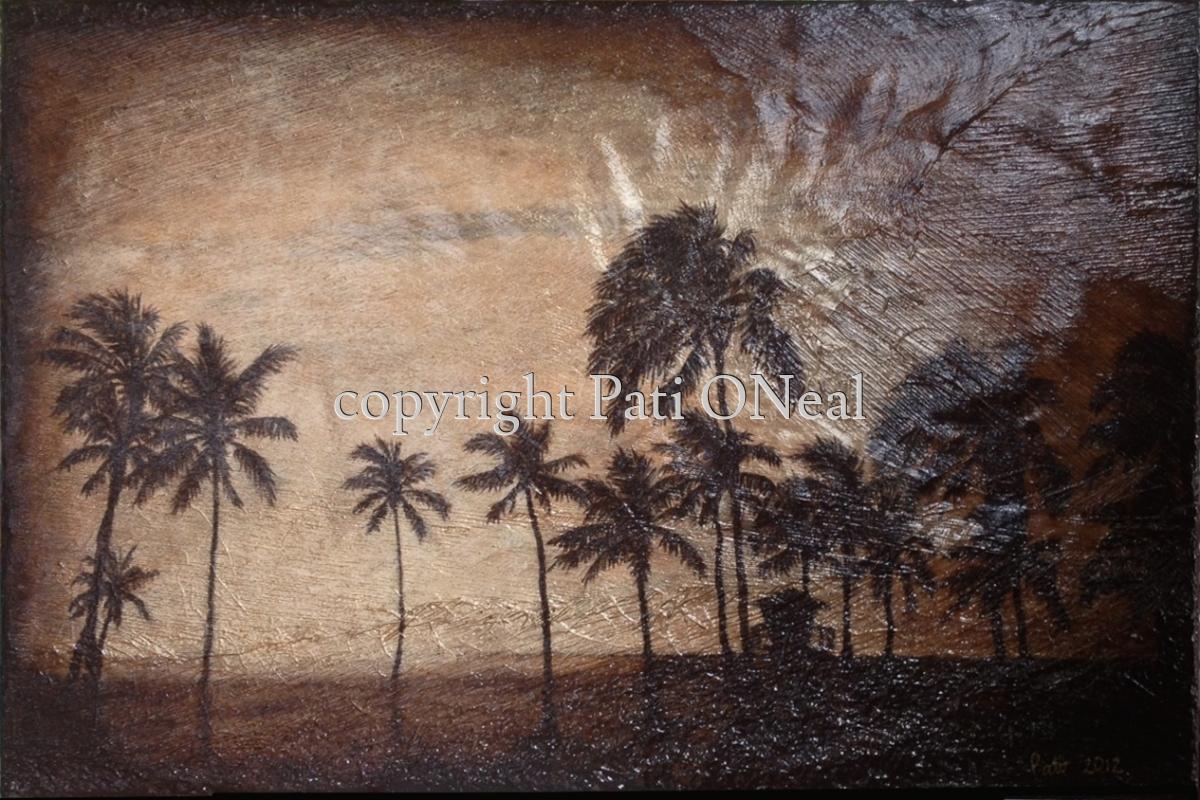 Ali'i Beach Park Palms - Hale'iwa (large view)