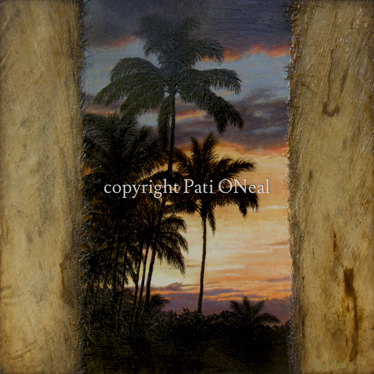 Tropic Sunset Palms (large view)