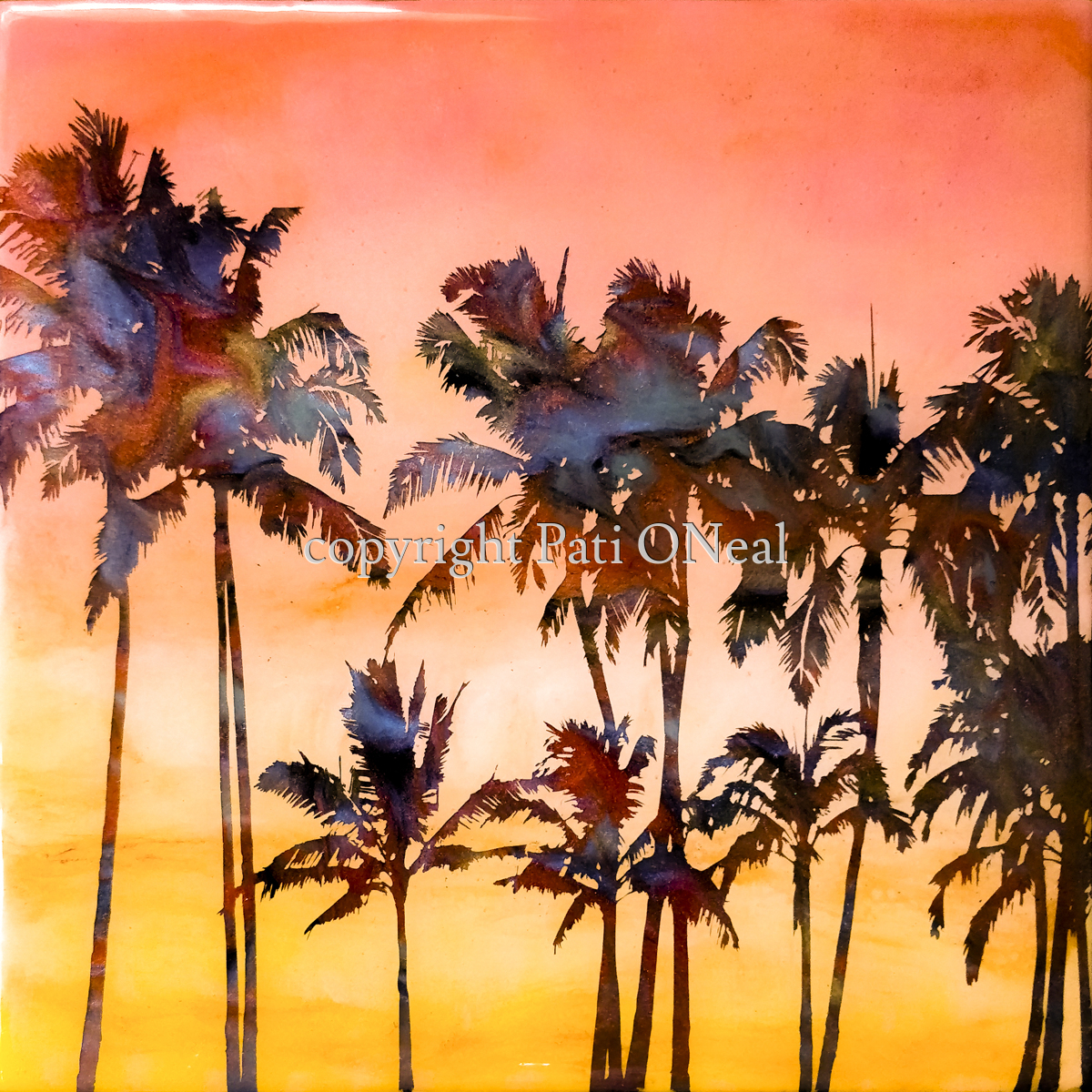Summer Sunset Palms (large view)