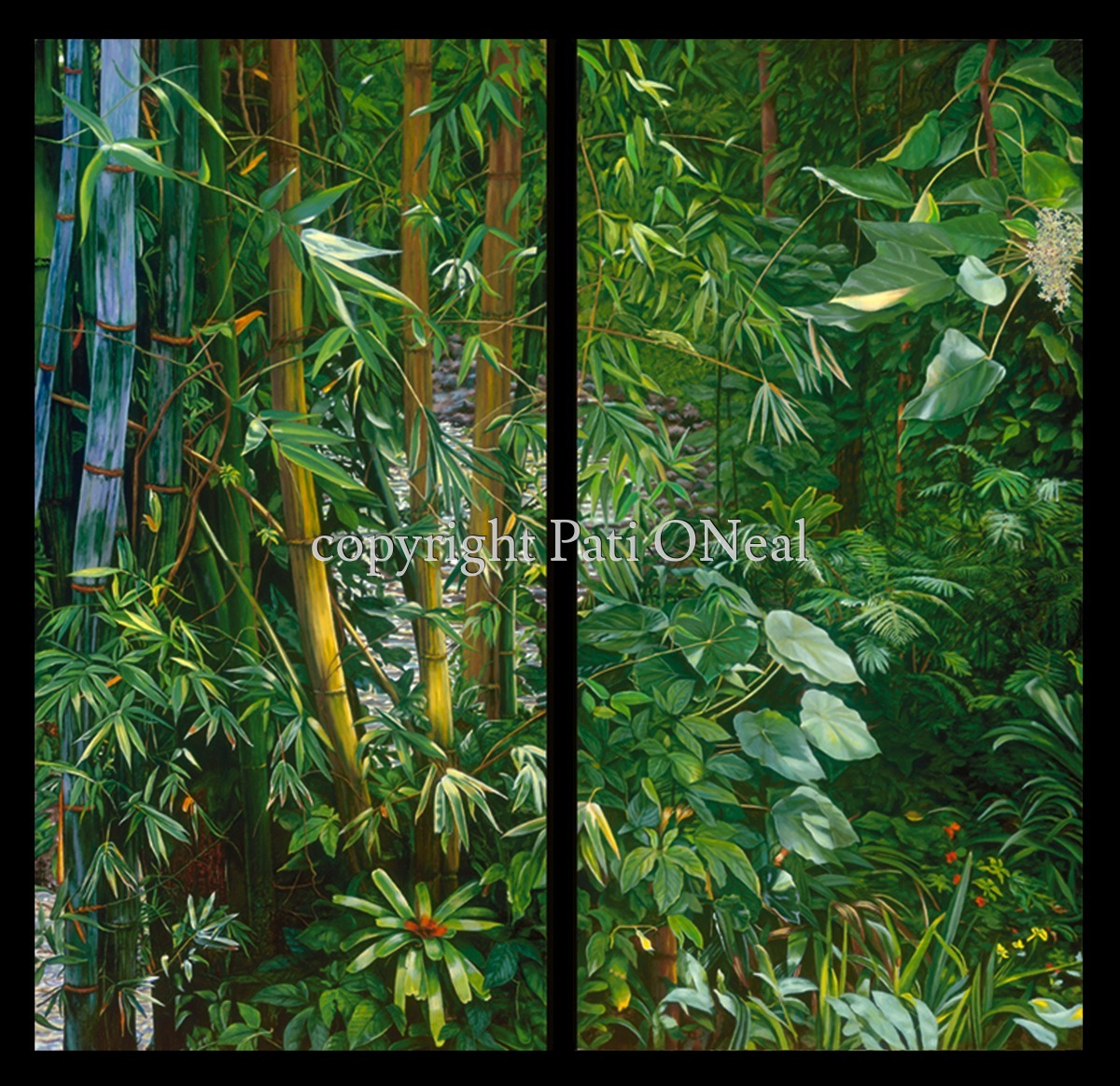 Manoa Jungle Diptych - I & II (large view)