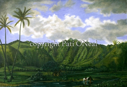 Manoa Valley From Waikiki (Enoch Wood Perry) (large view)