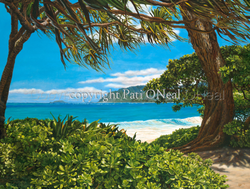 Lovely Laie Beach by Pati O'Neal