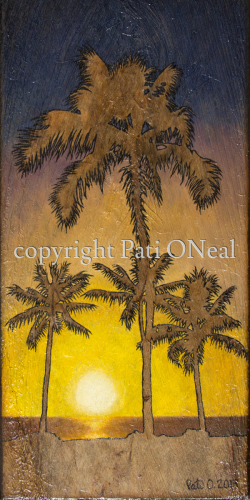 Setting Sun Palms by Pati O'Neal