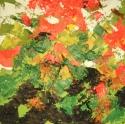 Geraniums in a Black Pot (thumbnail)