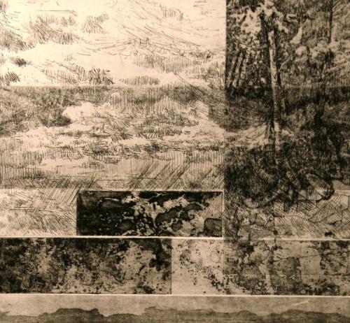 Juxtaposed Landscape (BW)