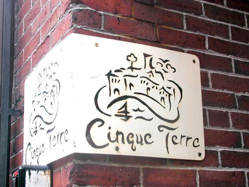 Steel Signage - Cinque Terre Restaurant, Portland, ME