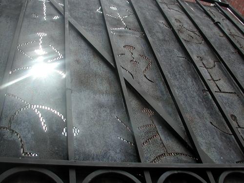 Petraglyph Gate - Detail, Market Street, Portland, ME
