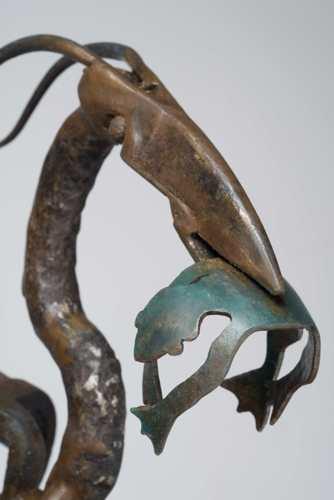 Blue Heron w/ Frog detail