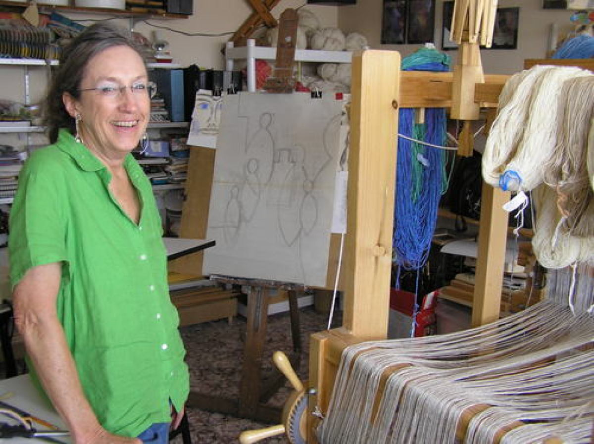 Patricia in her studio. (large view)