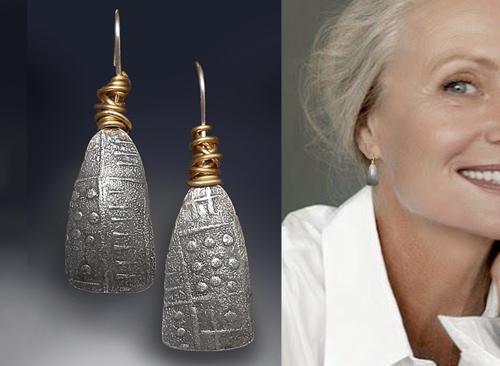 Wrapped fan earring