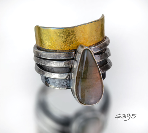 Rustic statement ring