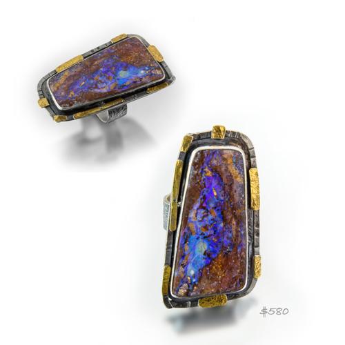 Plateau Boulder Opal Ring