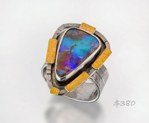Blue Sea Opal ring