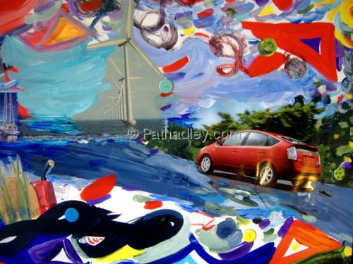 Energy, windmill, sailboat,car