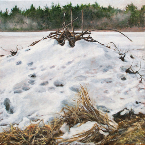 Beaver Lodge #4 by Patricia  Dorr Parker