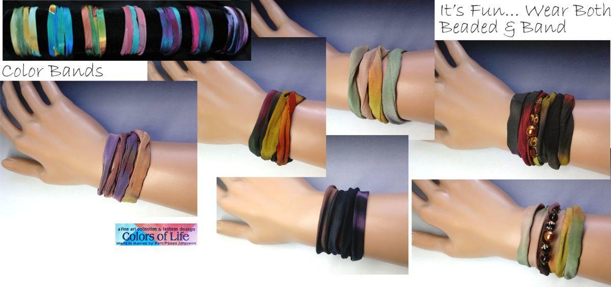 Hand-painted silk bracelet