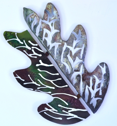 Fall Leaf Raku Clay / Silk Combination