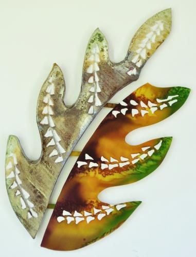 Tattoo Leaf Raku Clay / Silk Combination