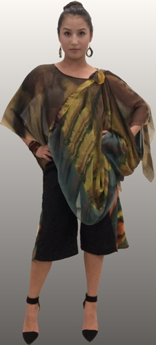 Layered Poncho with Gauchos