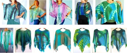 Poncho Group Collection / Ocean Colorway