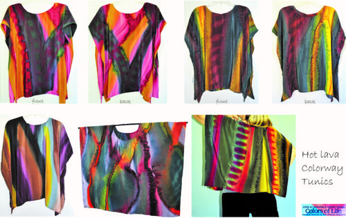 Loose Tunic Group Collection / Hot Lava Colorway