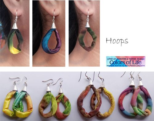Silk Hoop Earring Collection