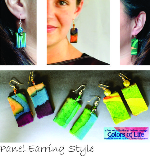 Silk Panel Earring Collection