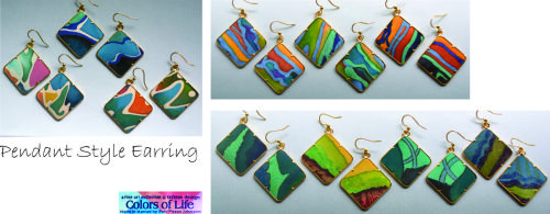 Silk Pendant Earrings Collection