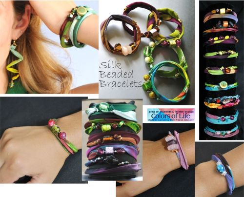 Fresh Perspective Bracelets of Silk and Beads Collection
