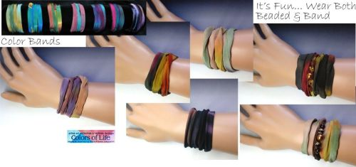 Fresh Perspective Color Band Silk Bracelet Collection