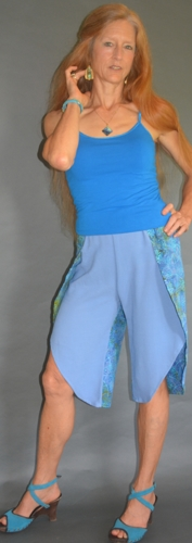 Capri Wrap Pants Ocean Blues