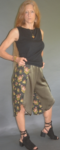 Capri Wrap Pants Sage Rainforest
