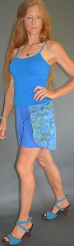 Wrap Shorts Blue Ocean