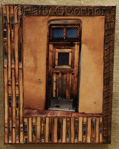 Single Wood Door with Transom ( lower left border)
