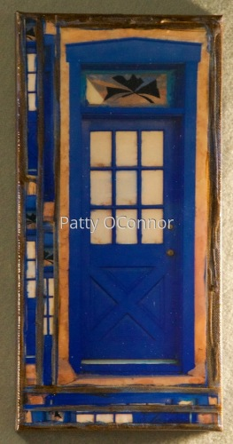 Old Santa Fe Trail Blue door with Transom