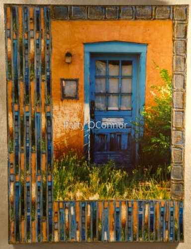 Old Santa Fe Trail Bright Blue Door