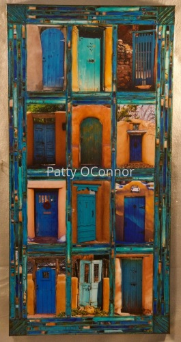 Twelve Teal and Blue Gates