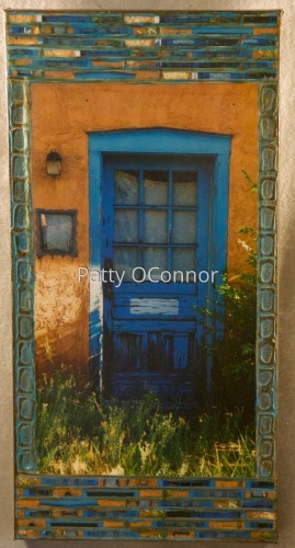 OSFT Blue Door with Overgrowth