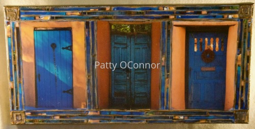 Three Blue Doors