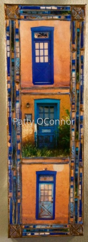 Old Santa Fe Trail Blue Doors