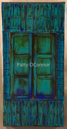Canyon Rd teal Shutter (8 x16)