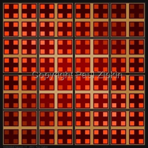 Embedded Squares 11 by Paul Zipkin