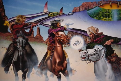 Cowboys vs. Aliens by Peter Bartczak