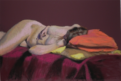 Composition of Figure and Pillows