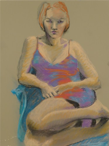 Study of Woman in Irridescent Dress