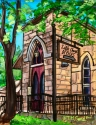 little church, little, church, heaven, san antonio, sanantonio, riverwalk, river, walk, villajita, village, sanctuary, vacation, texas, tmgand, fine, art -  Mixed Media