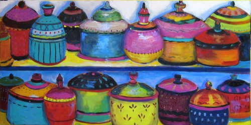 Lacquered Jars, Turkey Bazaar (large view)