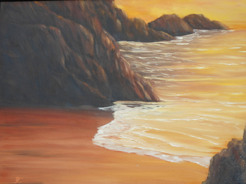 Peaceful Sunset by Paintings by PC