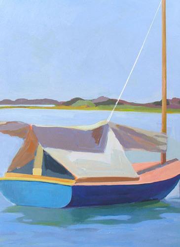 Blue Beetle  SOLD by Phyllis Dobbyn Adams