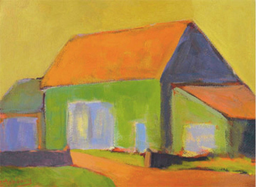 Barn On West Main - SOLD by Phyllis Dobbyn Adams